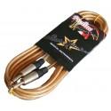 Cable jack 1/4 transparente StarSMaker® SM-CJT6