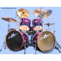 Batería acústica StarSMaker® SM-B014 set 8 pc abedul