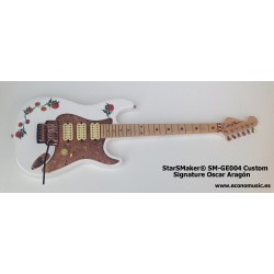 Guitarra eléctrica SM-GE004SS StarSMaker Super Strato Signature Oscar Aragon
