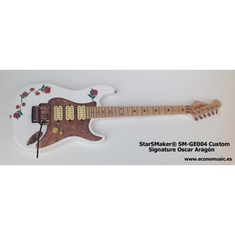 Guitarra eléctrica SM-GE004SS StarSMaker Super Strato Signature Oscar Aragon17