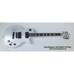 Guitarra eléctrica StarSMaker blanca sparkle