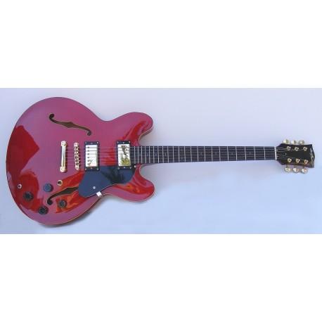 Guitarra eléctrica roja SM-GE016 StarSMaker Jazzy Gold1