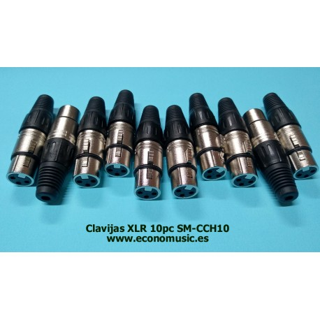 Clavijas conector XLR Lote de 10pc SM-CCH10