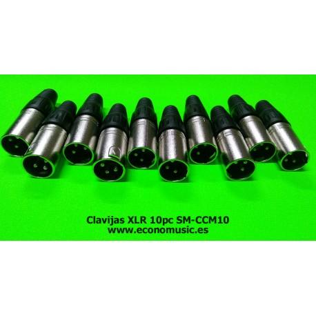 Clavijas conector XLR Lote de 10pc SM-CCM10