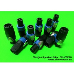 Clavijas speakon macho Lote de 10pc